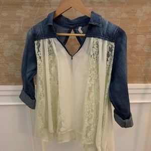 Free People Long Sleeve Blouse